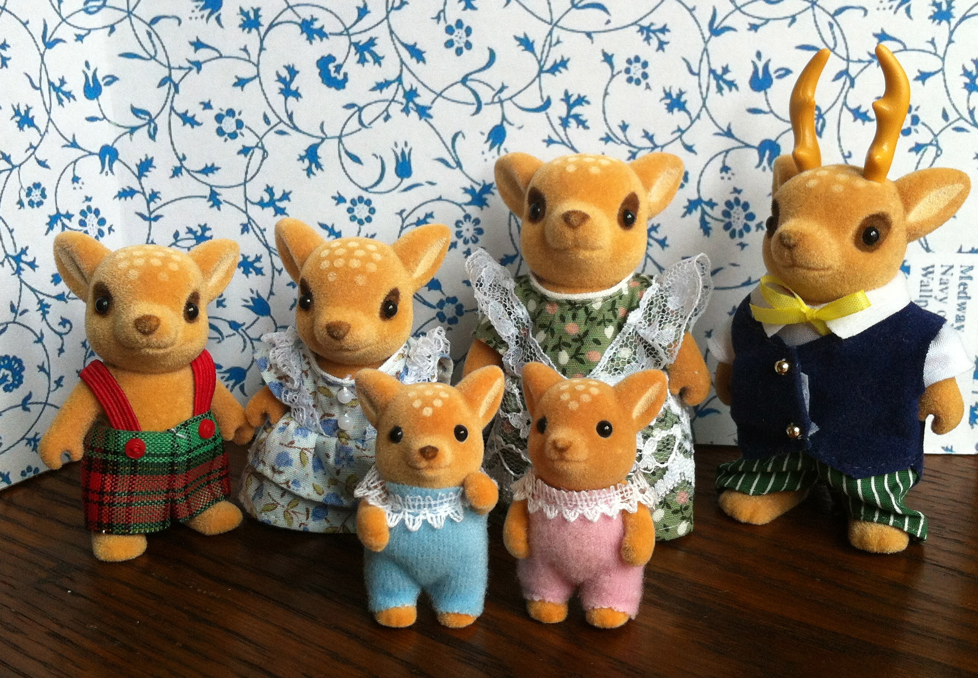 Teddy Bears Amp Friends Sylvanian Families Moss Reindeer Family Of 4 Mint Condition With