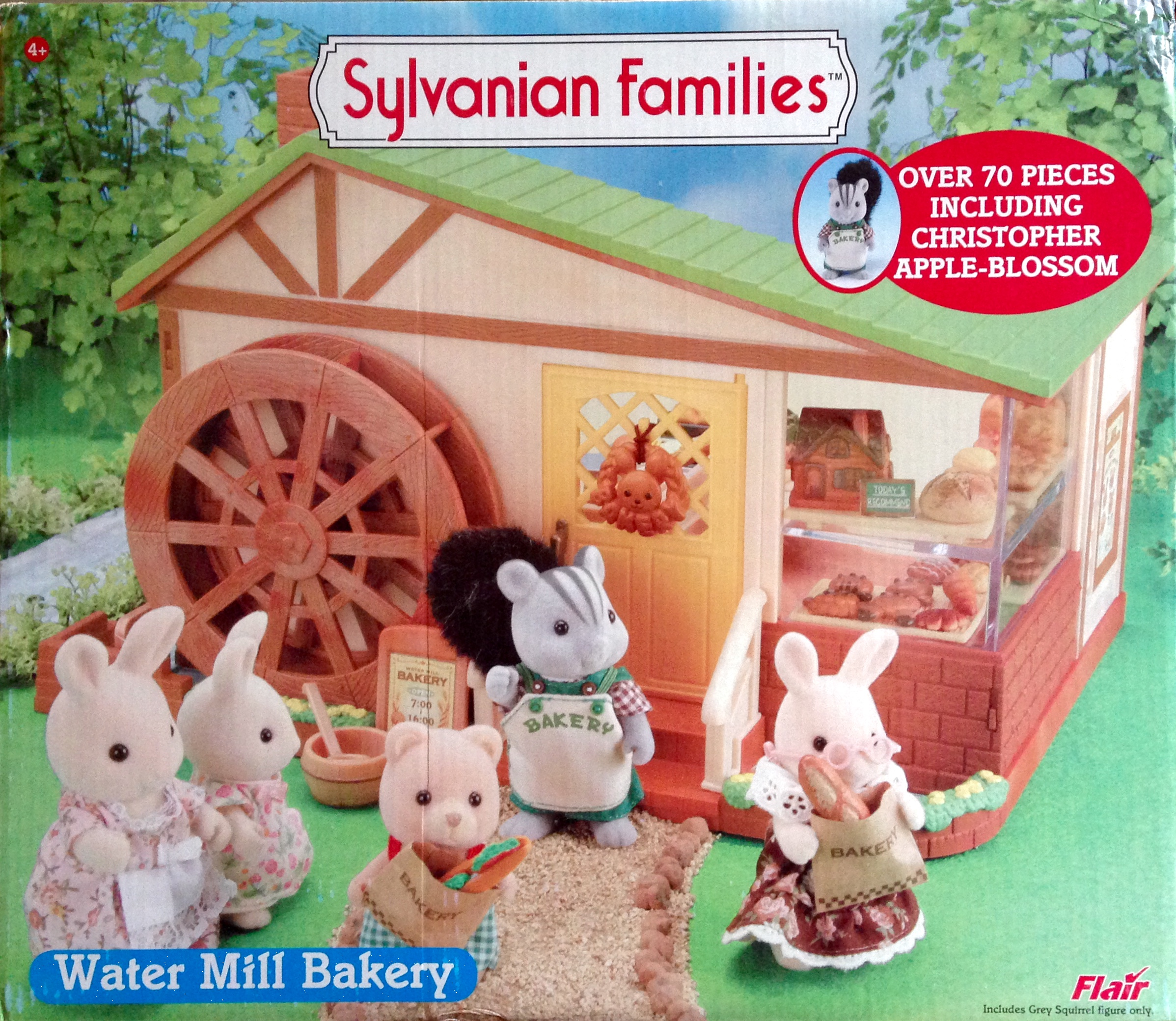 Teddy Bears Friends Sylvanian Families Water Mill Bakery With