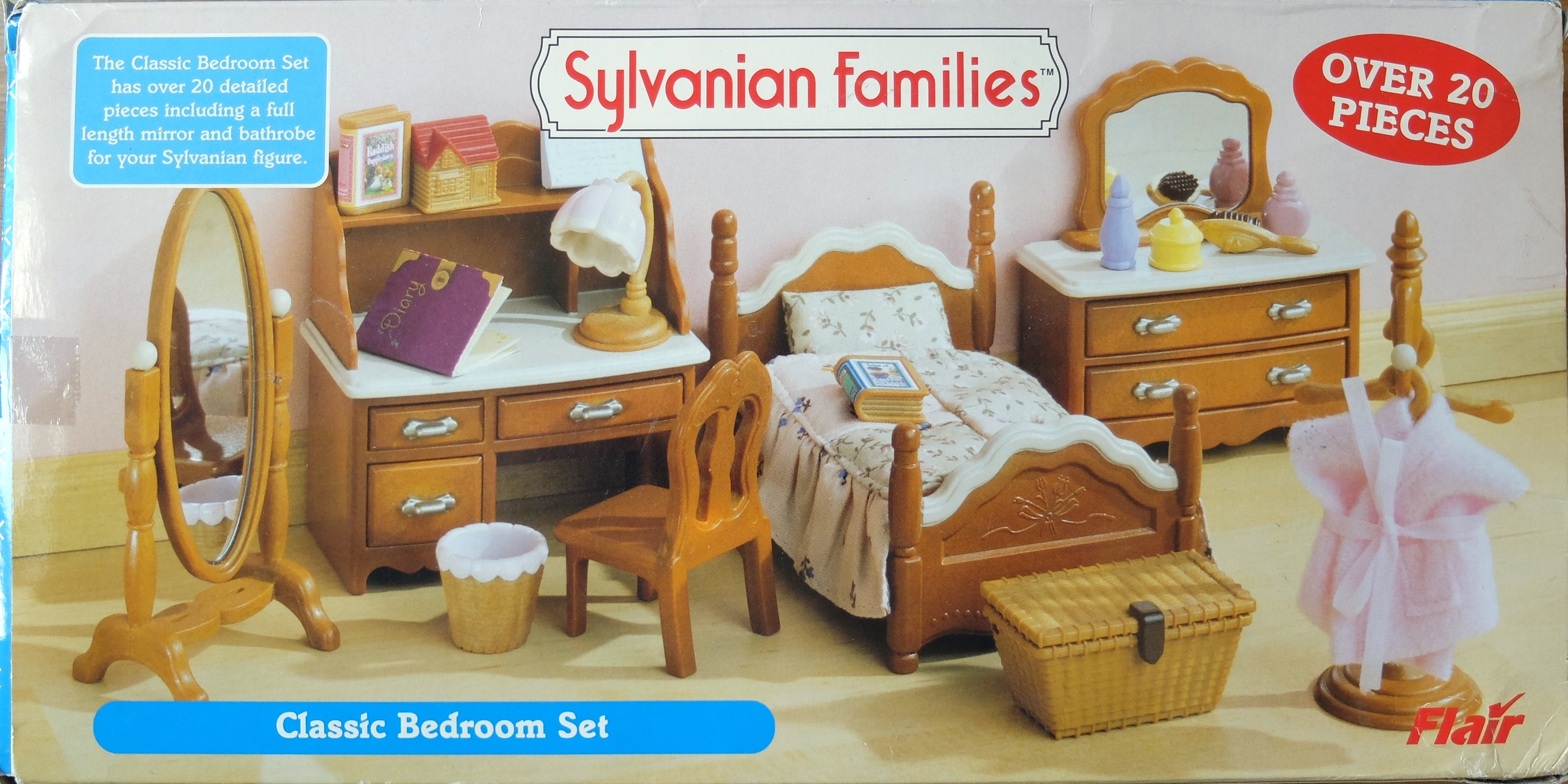 Sylvanian families bedroom set for Sylvanian classic furniture set